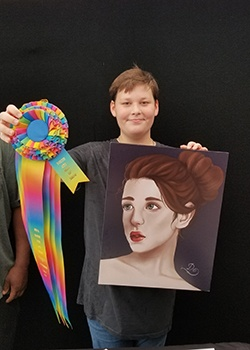 Virginia Griffith, Mixed Media, Age 12, Asheville Middle School